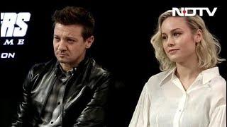 Brie Larson & Jeremy Renner On 'Avengers Endgame', Fans & More