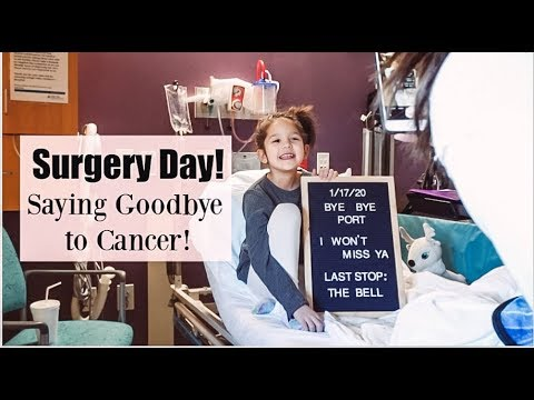 THIS IS A BIG DAY!   ADDIE'S PORT REMOVAL SURGERY   THE LAST STEP IN HER CANCER BATTLE!