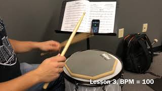 Alfred Drum Method Book 1, Lesson 3