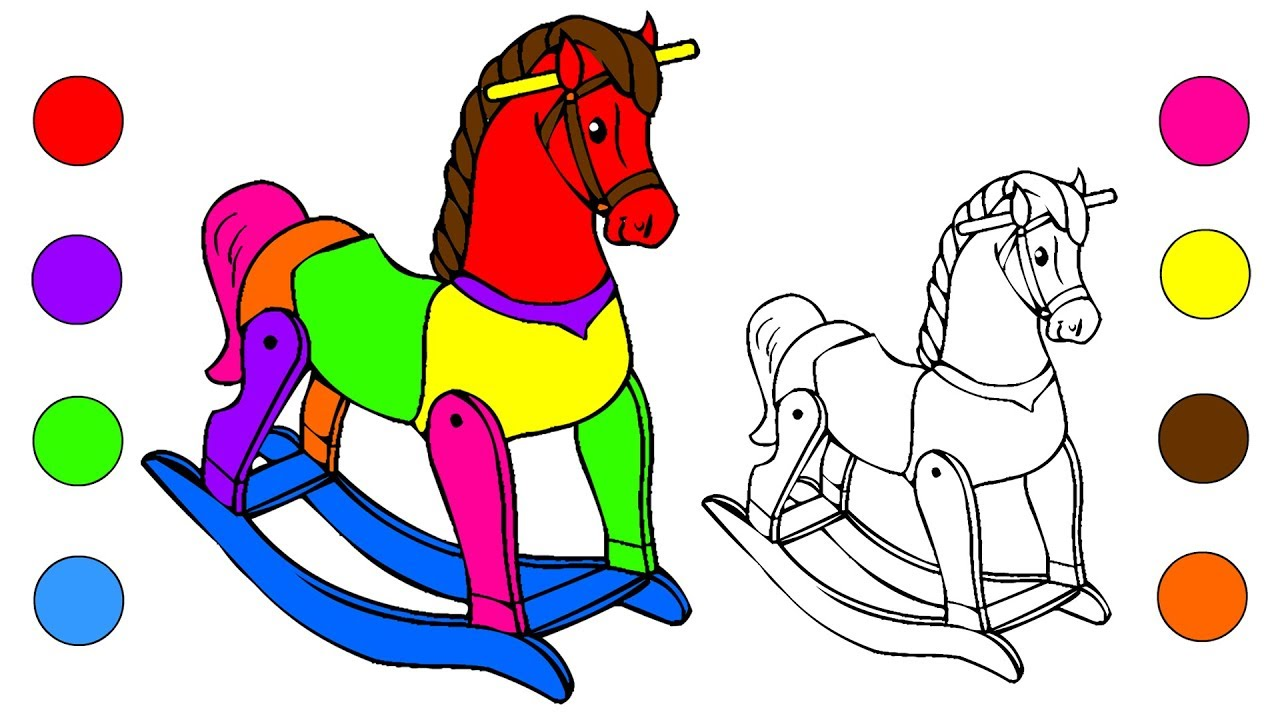 Baby Rocking Horse Coloring Pages baseball coloring pages barbie ...