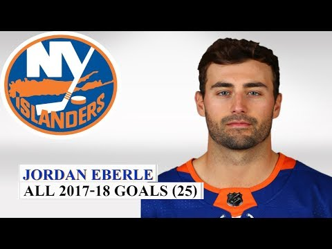 Jordan Eberle (#7) All 25 Goals of the 2017-18 NHL Season