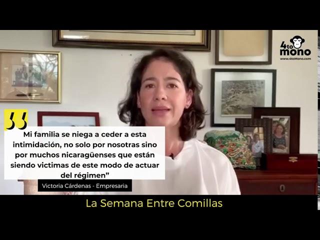 Mi familia se niega a ceder a esta intimidación, no solo por nosotras sino por muchos nicaragüenses