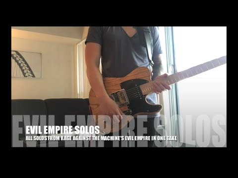 All Of Tom Morello's Solos from Evil Empire in ONE TAKE