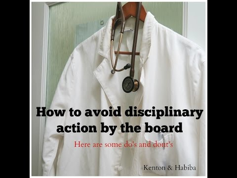 How to avoid disciplinary action by the board (Do's and dont's)