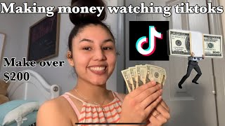 HOW TO MAKE MONEY WATCHING TIKTOKS (MAKE OVER $100)