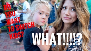 day with 4 year old everleigh and switching kids vlog