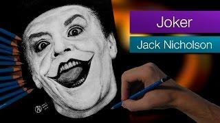 Joker (Jack Nicholson) - Batman 1989 - Speed Drawing