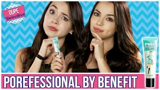 CHEAP POREFESSIONAL BY BENEFIT DUPE?! | Dupe Detectives w/ the Merrell Twins