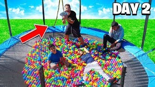LAST TO LEAVE TRAMPOLINE WINS $10,000 - CHALLENGE!!!