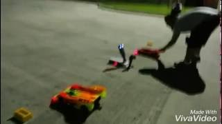 Rc drag racing night. Of the serpents testing. And. Tunning. Hoverboard drag racing