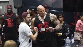 Rich Piana's 5 Percent Nutrition Booth at the 2018 LA Fit Expo
