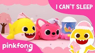 I Can't Sleep! | Baby Shark Pillow | Pinkfong Night Lamp | Pinkfong Toy Show for Children
