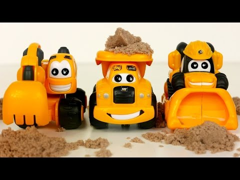 Construction Toy Vehicles for Kids Working in Dirt Trucks for Children