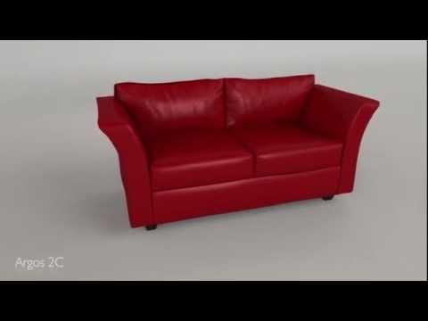 Sillon Argos Mussa 173 x 73 cm Ecocuero varios colores - YouTube