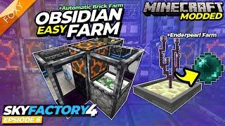 Sky Factory 4   EASY OBSIDIAN FARM   Minecraft   Episode 6
