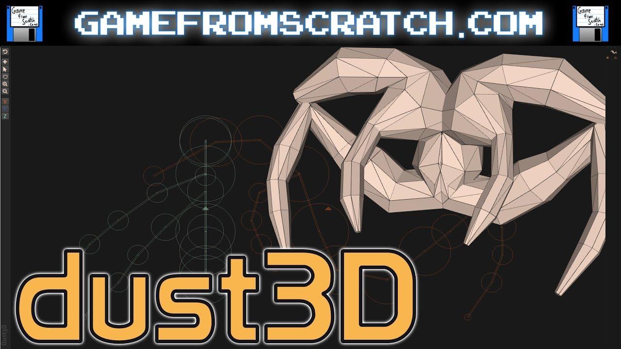Dust3D -- Free Open Source 3D Modelling Application