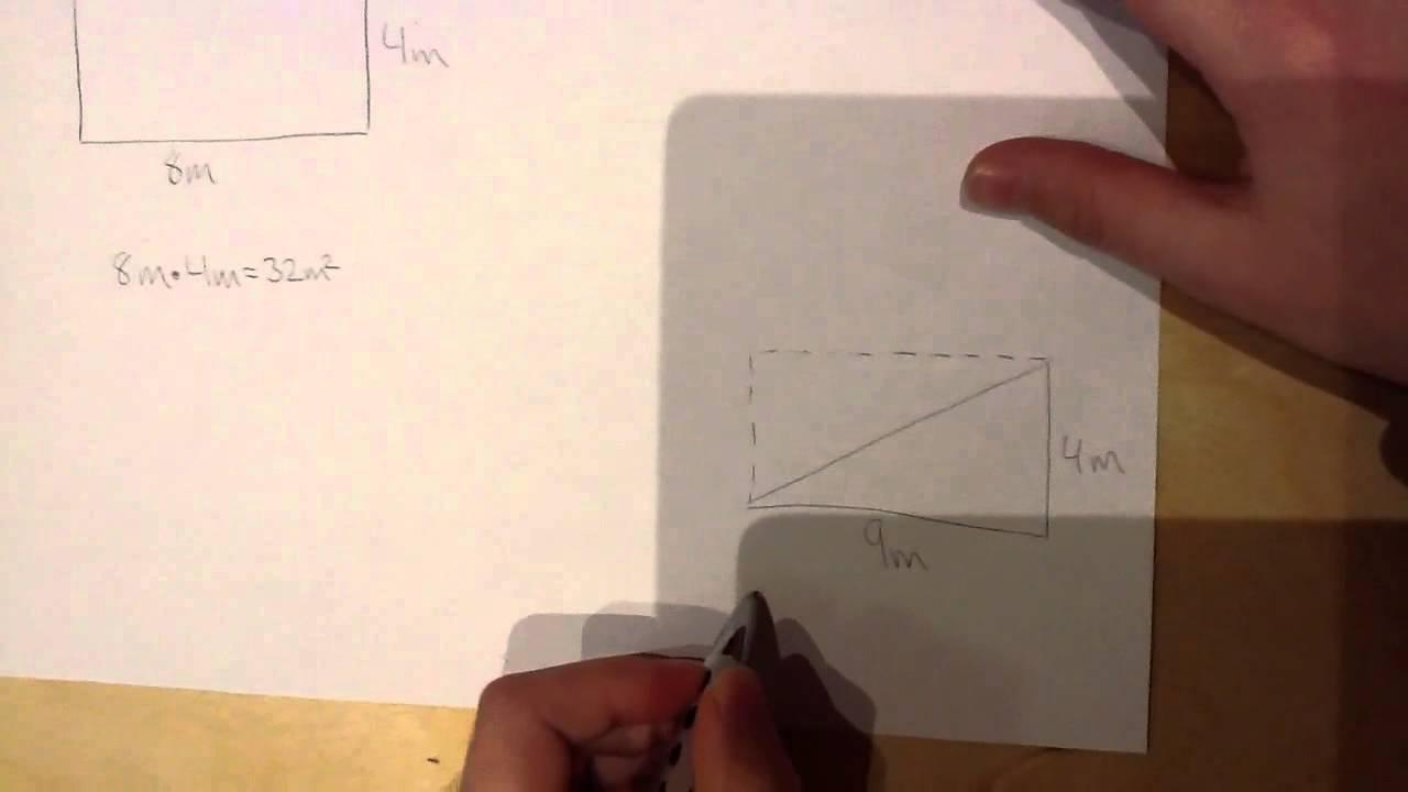 Husum Skole 5.a - areal af rektangel og trekant