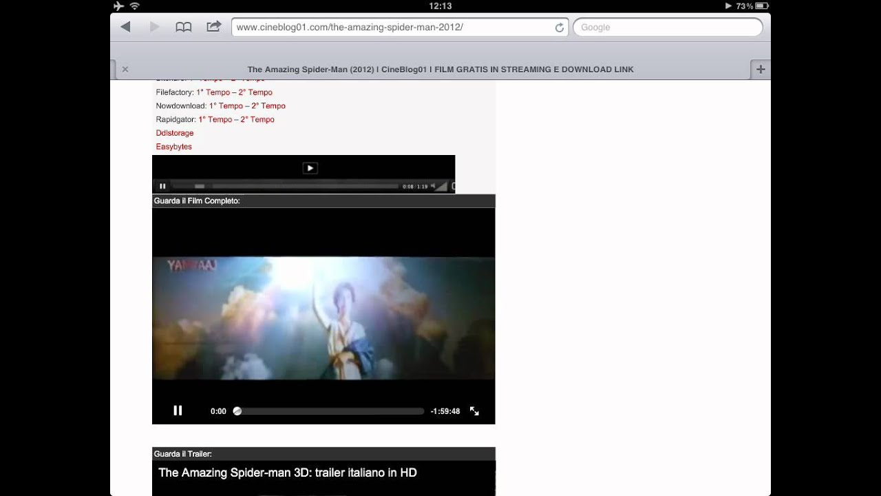 ipad stream filme