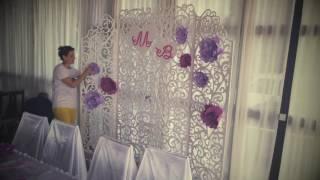 Вackstage. Нежный декор на свадьбе Максима и Валерии. 18.06.16