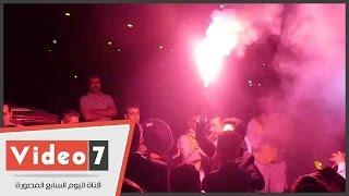 الشماريخ تشعل حفل زفاف نجل أحمد ناجى فى حضور نجوم الرياضة