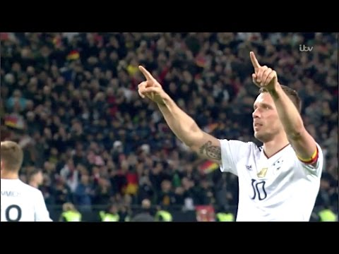 Lukas Podolski Last Match For Germany HD • Germany vs England 2017