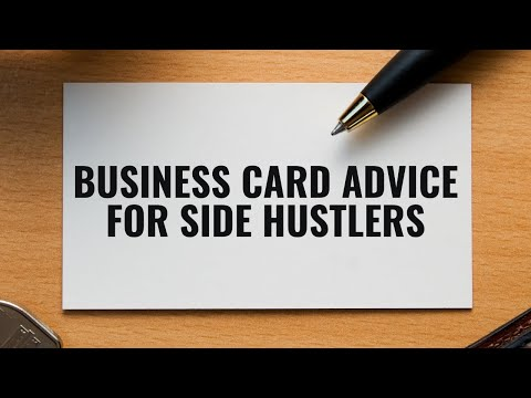 DIY Business Card Advice for Side Hustlers | Canva Tutorial thumbnail