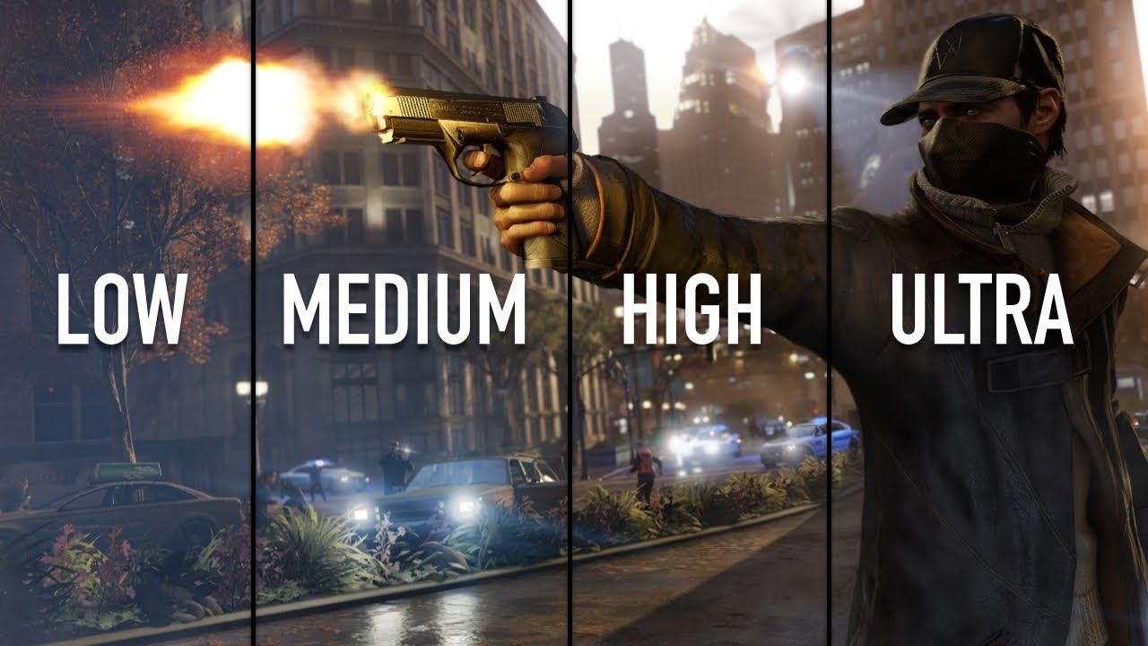 watch dogs pc performance review low vs medium vs high vs ultra