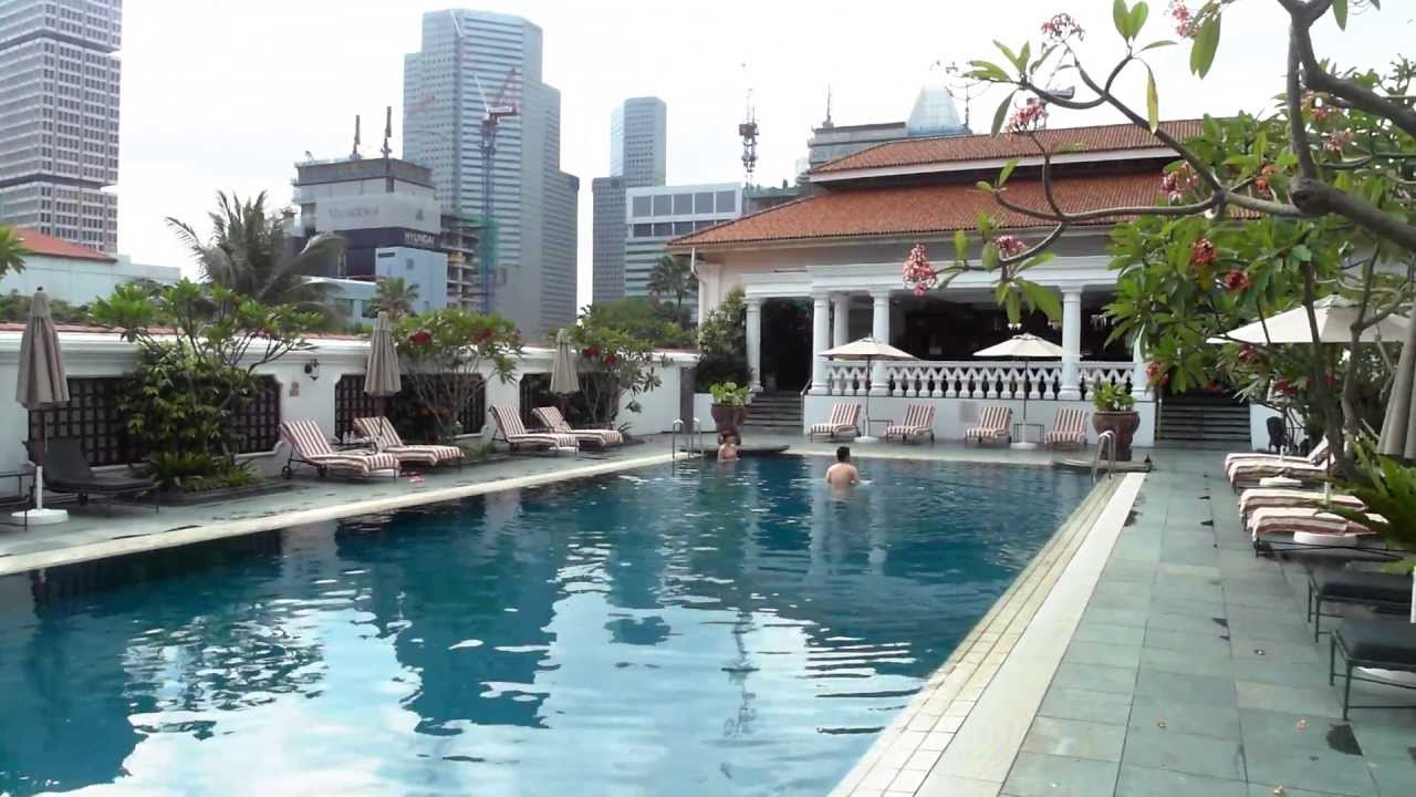 Raffles Hotel Singapore Swimming Pool Youtube