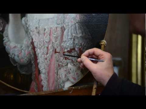 Restauration de tableaux pour l
