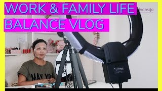 Work And Family Life Balance Tips Vlog | SuperPrincessjo
