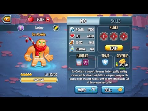 Monster Legends - Son Cookie level 1-130 review combat PVP