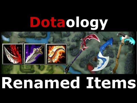 Dotaology: Renamed Items