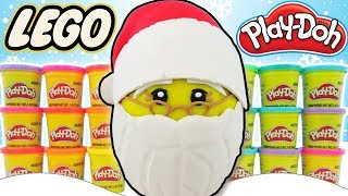 GIANT LEGO Santa Play Doh Surprise Egg! Roblox, Squishies, Christmas Toys | Trusty Toy Channel