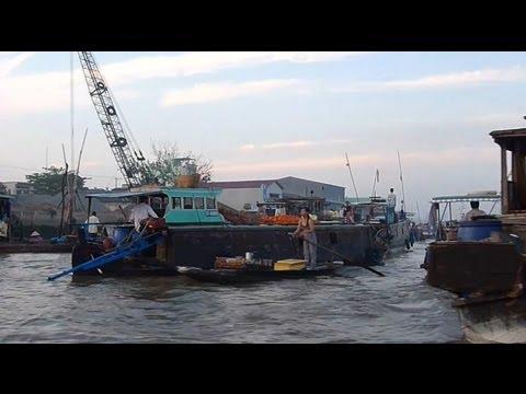 Asia Floating Market Mekong Delta