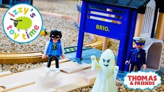 Cars for Kids | Playmobil Toy Trains with Brio Police Station with Toy Trains for Kids!