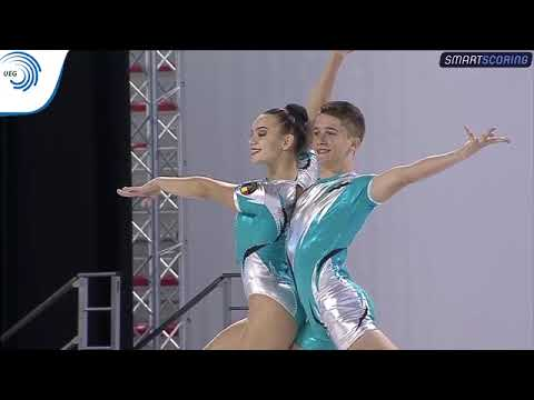 REPLAY: 2017 Aerobics Europeans - Junior FINAL Mixed Pairs,