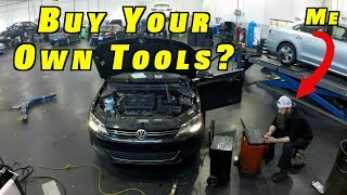 Professional Auto Mechanics Must Buy Their Own Tools?
