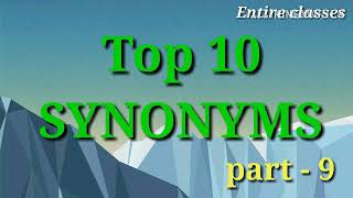 Top 10 Synonyms Vocabulary./ Important Synonyms English with Hindi Meaning. part-9