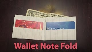 Origami Paper Wallet Note Fold