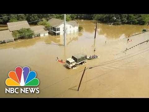 Drone Captures Scenes Of Severe Flooding In Baton Rouge | NBC News