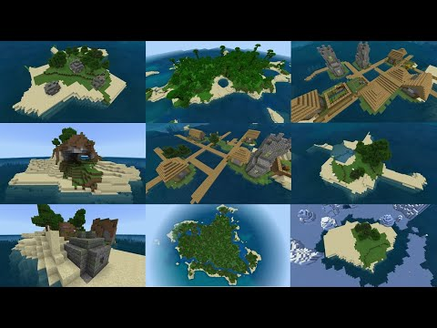 Minecraft: TOP 20 SURVIVAL ISLAND SEEDS! (Pocket Edition, Xbox One, Switch, W10)