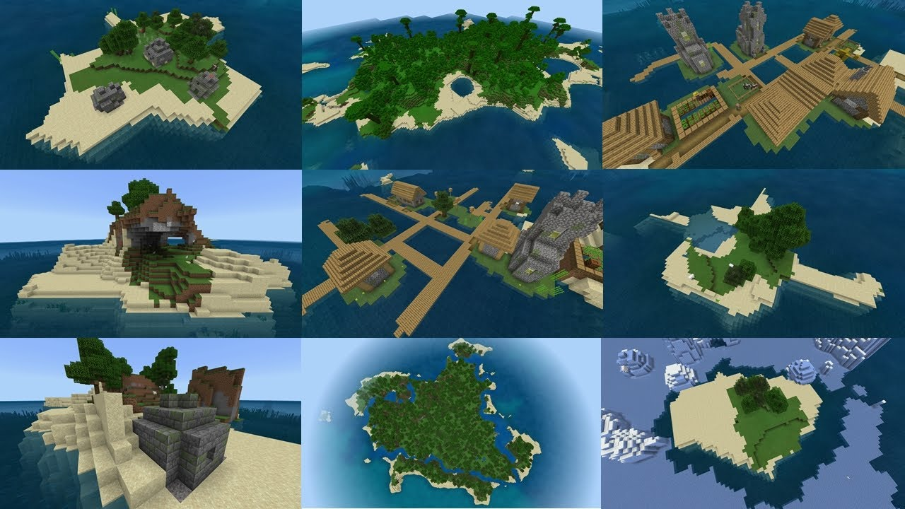 Minecraft: TOP 8 SURVIVAL ISLAND SEEDS! (Pocket Edition, Xbox One, Switch,  W8)