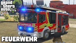 GTA 5 FEUERWEHR MOD - HILFE es BRENNT! - Deutsch - Grand Theft Auto V Rescue Mod #1