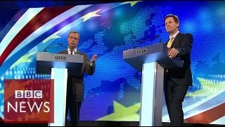 Farage vs Clegg: Row over Russia