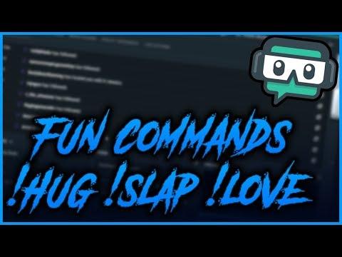 Streamlabs Chatbot Custom Fun Commands (!Hug, !Slap, !Love, And More!)