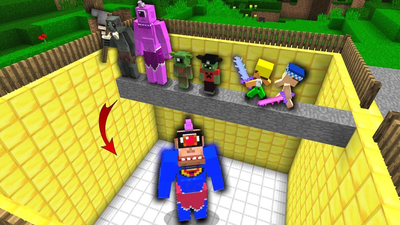 ÖLÜRSEN SÜPER TEPEGÖZ ÇUKURUNA DÜŞERSİN! 😱 - Minecraft