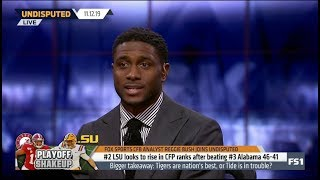 UNDISPUTED | Reggie Bush SHOCKED #2 LUS looks to rise in CFP ranks after beating #3 Alabama 46-41
