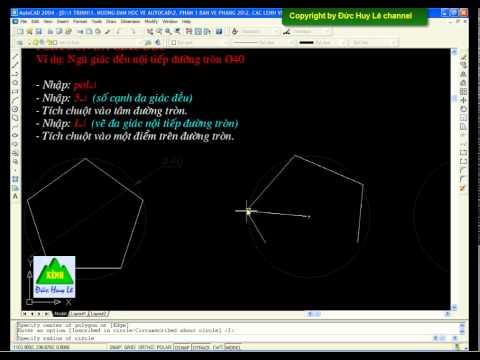 Cách vẽ đa giác đều trong AutoCAD - Lệnh Polygone