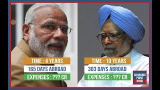 Shocking Result : Narendra Modi and Manmohan Singh Foreign Trips Comparison in Hindi