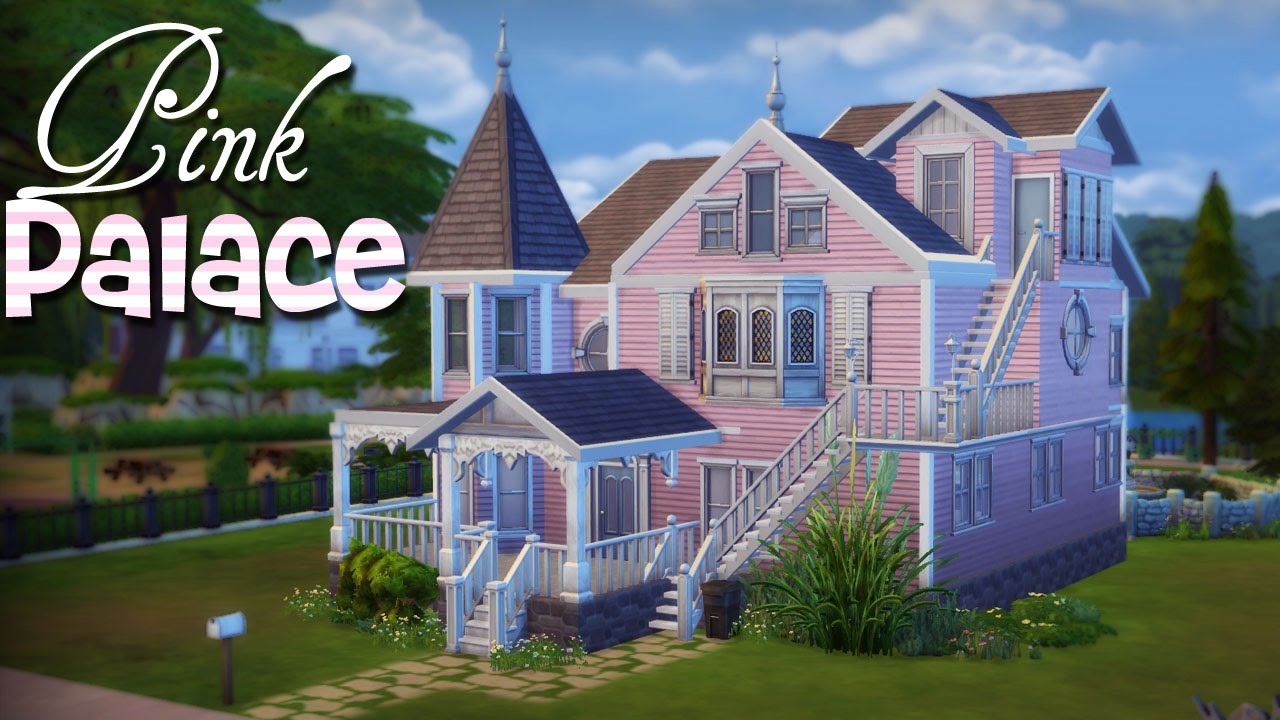 The Sims 4 Pink Palace Apartments Speed Build Youtube